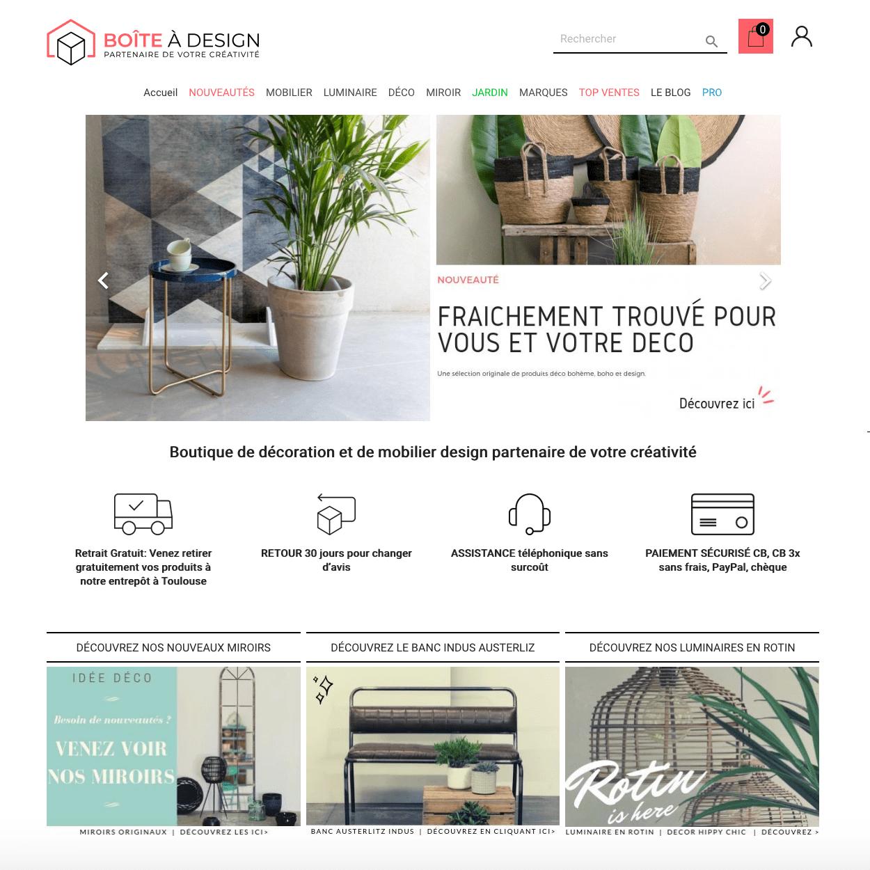 Site Boite à Design